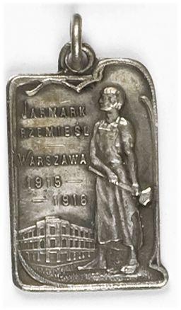 Żeton pamiątkowy Jarmarku Rzemieślniczego Warszawa 1915-1916