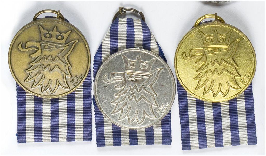 Komplet medali pamiątkowych I Samodzielnej Brygady Spadochronowej