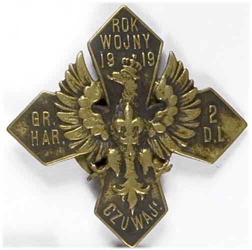 Odznaka pamiątkowa grupy harcerskiej 2 Dywizji Legionów 1919