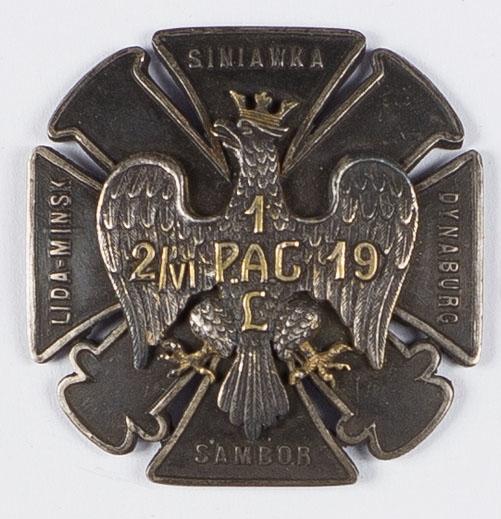 Odznaka pamiątkowa 1 Pułku Artylerii Ciężkiej Legionów Polskich
