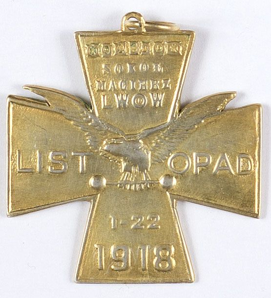Odznaka pamiątkowa Sokół Macierz Lwów Listopad 1-22 1918