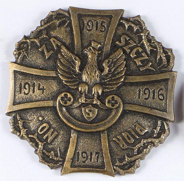 """Odznaka internowanych legionistów """"Za Szczypiorno"""""""