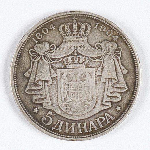 5 Dinarów 1804-1904