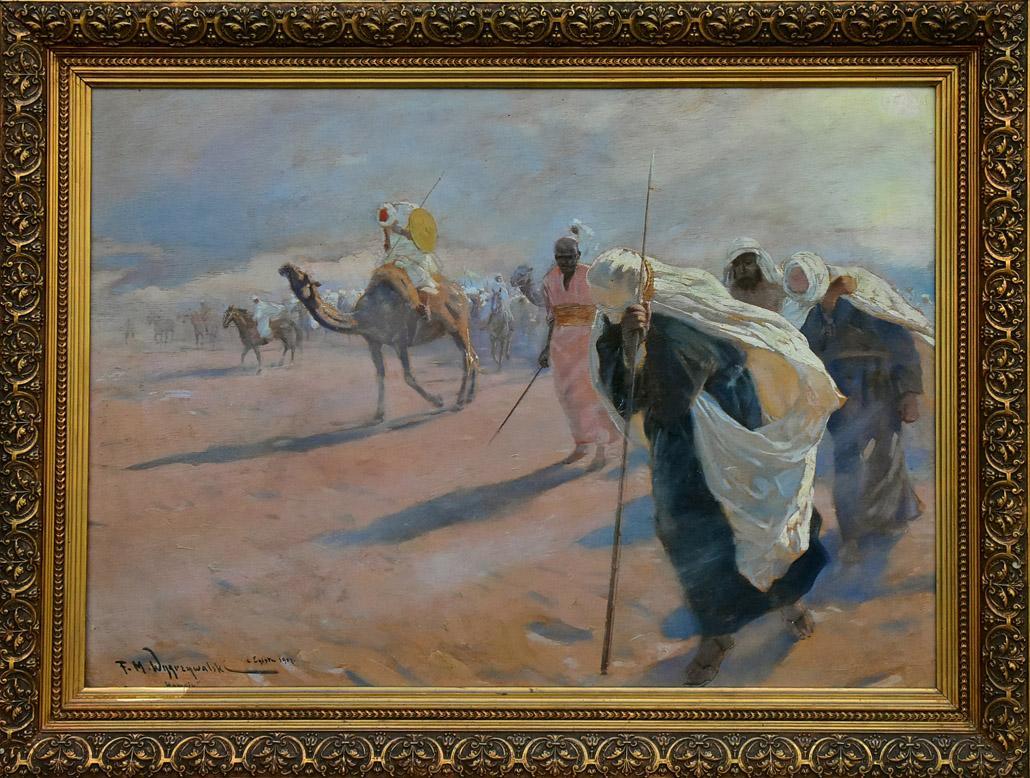 """""""Wiatr na pustyni egipskiej. Hamsin"""", 1907"""