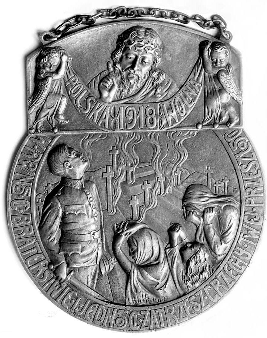 POLSKA WOLNA - 1919 -Plakieta jednostronna