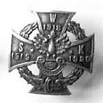 Miniatura odznaki byłych uczestników Wojskowej Straży Kolejowej 1919-1920