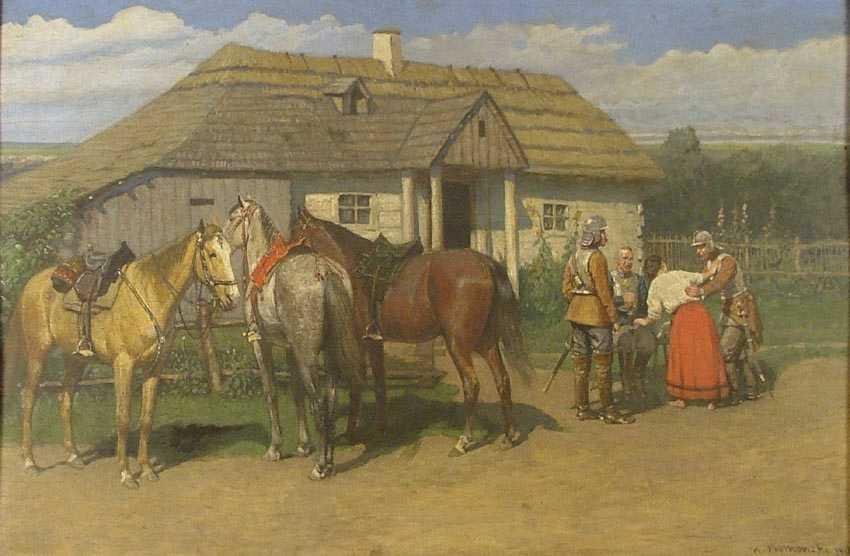 """""""Scena rodzajowa przed dworem"""", 1912"""