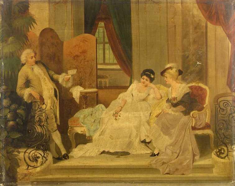 """""""Czytanie poezji"""", 1894"""