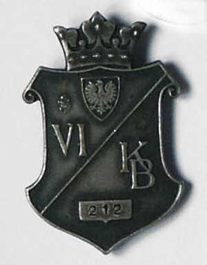 """Odznaka Armii Krajowej """"VI KB"""""""