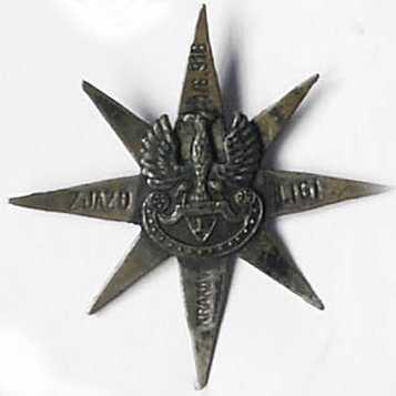 """Odznaka patriotyczna """"Zjazd Ligi Kobiet Kraków 1916"""""""
