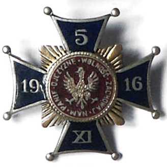 """Odznaka patriotyczna """"5 XI 1916"""""""
