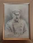 Rafał CIERPIAŁ Marszałek Józef Piłsudski - rysunek