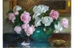 Alfons KARPIŃSKI Róże różowe i białe