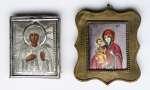 Ikony św. Aleksandra i Matka Boska Trójręka