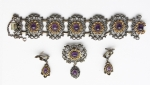 Komplet srebrnej biżuterii z ametystami R. Ranft