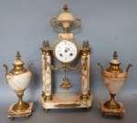 Zegar kominkowy z dwoma wazami