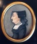 Maria CHYBIŃSKA Portret Marii Seidel miniatura