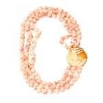 Naszyjnik z korali z kameą
