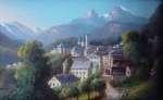 Pejzaż alpejski z Berchtersgaden
