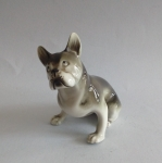 Figurka porcelanowa - Buldog francuski