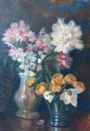 Martwa natura z bukietami kwiatów