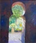 Halina LERMAN Z łaźni arabskiej widok na ogród (Majorka)