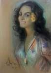 Józef KIDOŃ Portret kobiety z kwiatem we włosach