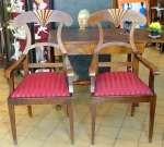 Dwa fotele w typie Biedermeier