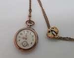 Zegarek damski kieszonkowy wraz z dewizką