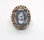 Srebrny pierścionek z akwamarynem