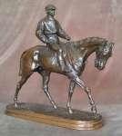 Pierre-Jules MENE Figura dżokeja na koniu