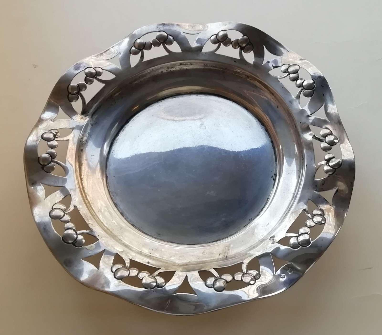 Secesyjna patera srebrna