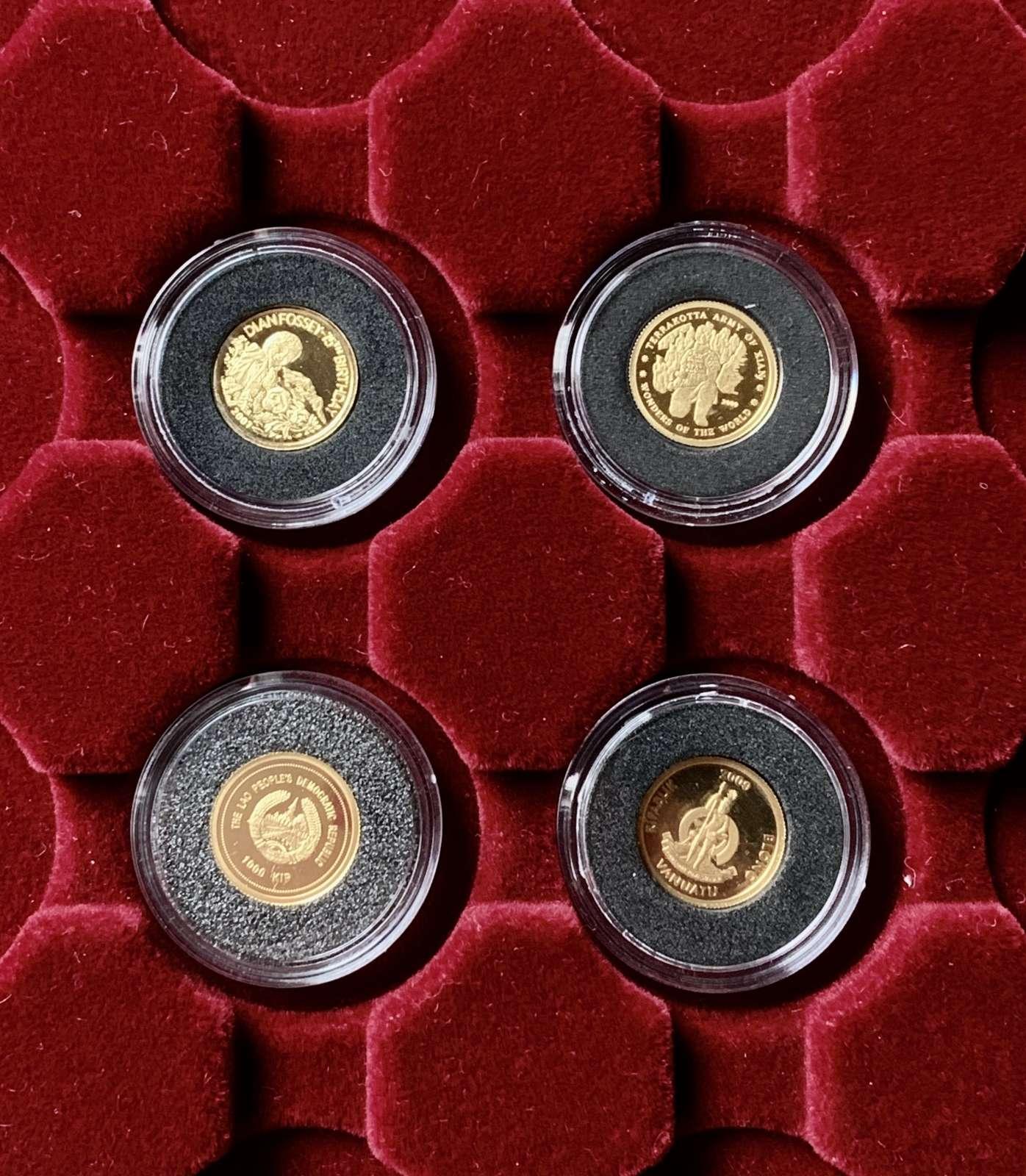 Monety złote 4 sztuki