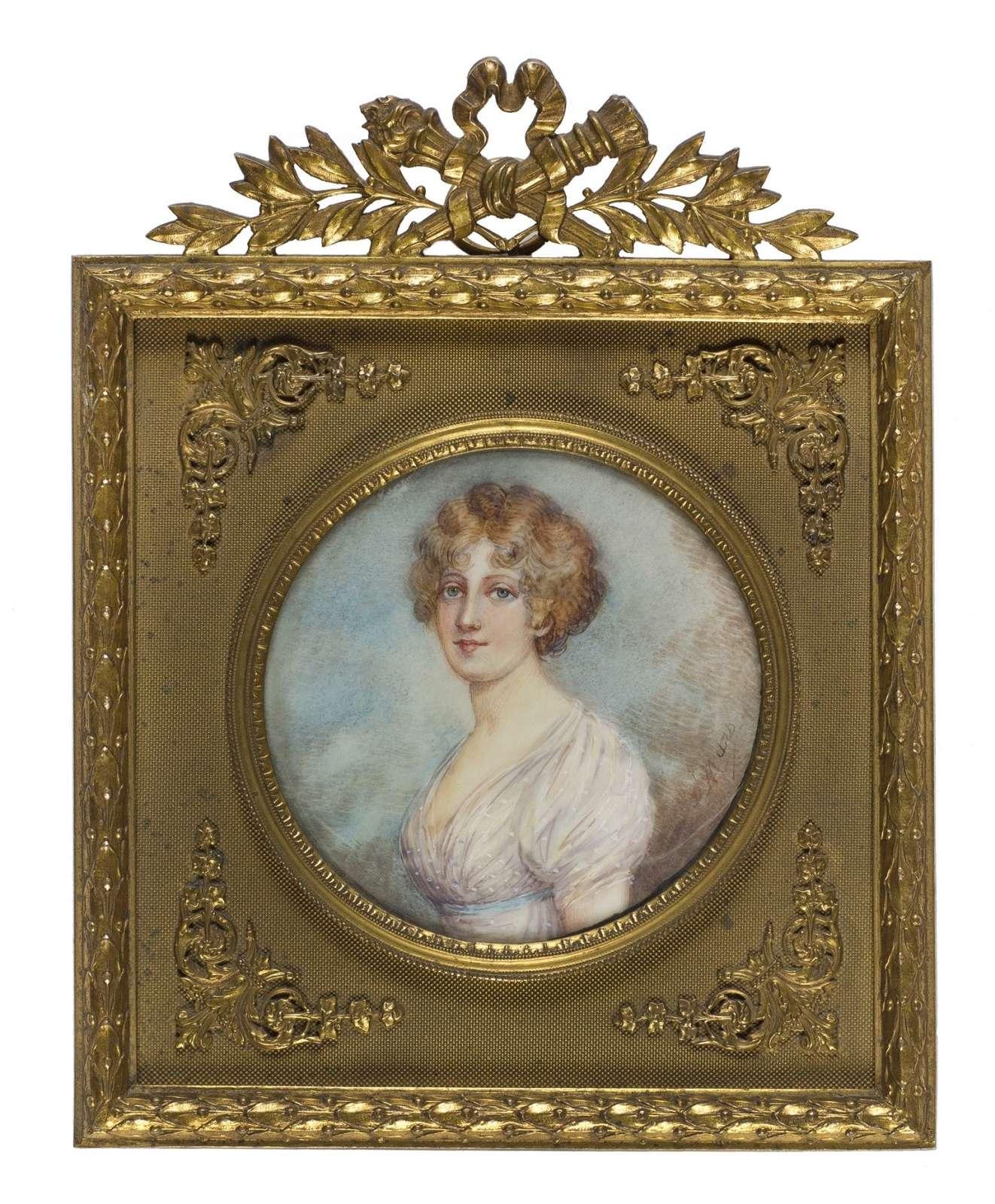 Miniatura portret kobiety