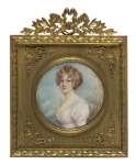 Artysta  NIEZNANY Miniatura portret kobiety