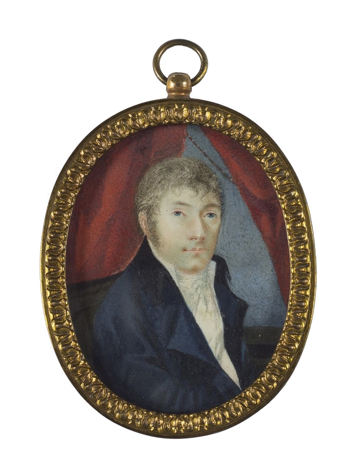 Miniatura portret mężczyzny