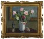 Maria GÜNTNER-KAWALEROWICZ Martwa natura z różami i figurką Napoleona