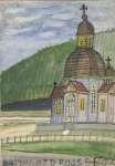 Nikifor KRYNICKI Drewniany kościół Przemienienia Pańskiego w Krynicy