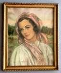 Adam DOBROWOLSKI Portret kobiety w stroju góralskim