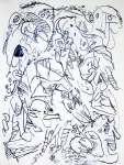 Pierre ALECHINSKY Niebieska abstrakcja, 1962