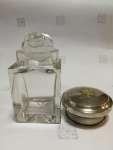 Pojemnik szklany ze srebrnym korkiem