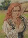 Stanisław GÓRSKI Dziewczyna w stroju góralskim