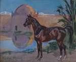Wojciech KOSSAK Koń na pustyni