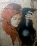 Teodor AXENTOWICZ Dziewczyna z wazonem