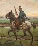 Wojciech KOSSAK Żołnierz na koniu