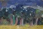 Jan DUTKIEWICZ Pejzaż z lasem, 1970