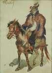 Fryderyk PAUTSCH Studium Hucuła na koniu