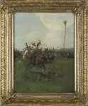 Józef BRANDT Lisowczycy - strzelanie z łuku (szkic do obrazu)