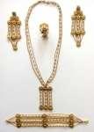 Komplet biżuterii złotej W.Kruk