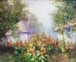 Józef ŁĄCKI Chaty z malwami